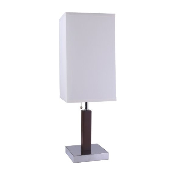 Sh Lighting Square Accent Wood Table, Square Wood Table Lamp Base